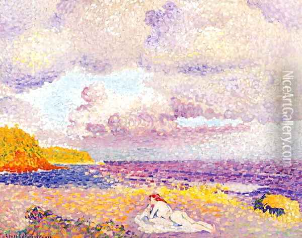 An Incoming Storm, 1907-08 Oil Painting - Henri Edmond Cross