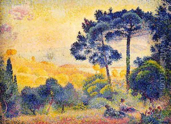 Provence Landscape Oil Painting - Henri Edmond Cross