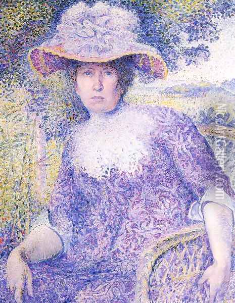 Portrait Of Madame Cross Oil Painting - Henri Edmond Cross