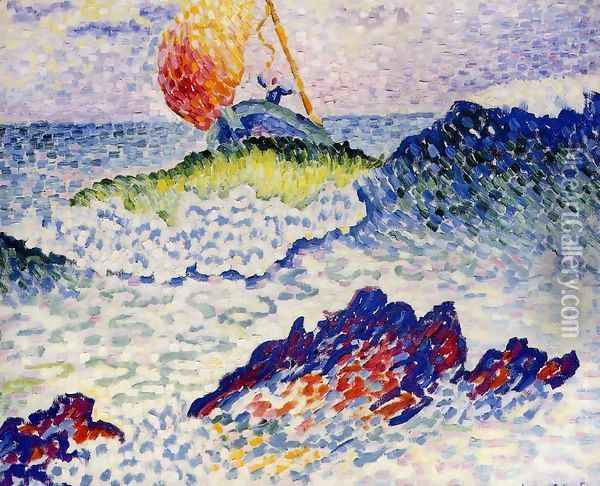 The Shipwreck, 1906-07 Oil Painting - Henri Edmond Cross