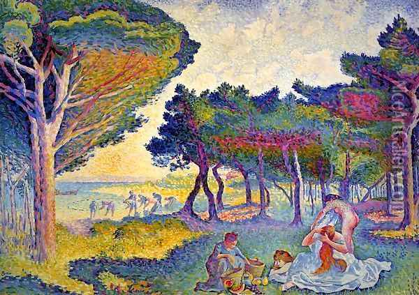 By the Mediterranean Oil Painting - Henri Edmond Cross