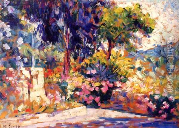 The Flowered Trees Oil Painting - Henri Edmond Cross