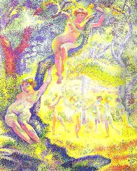 The Clearing Oil Painting - Henri Edmond Cross