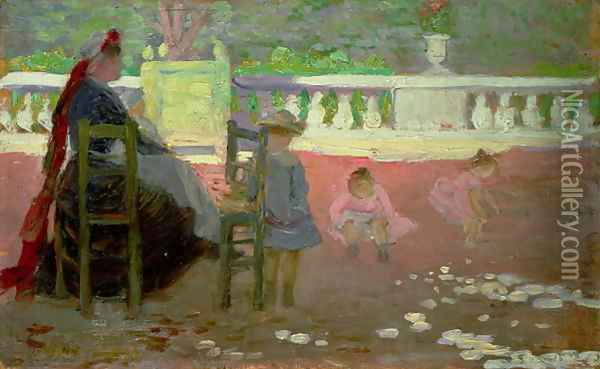 In the Luxembourg Gardens Oil Painting - Henri Edmond Cross