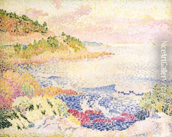 Coast of Provence, Le Four des Maures Oil Painting - Henri Edmond Cross