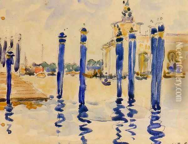 La Donana, Venice Oil Painting - Henri Edmond Cross