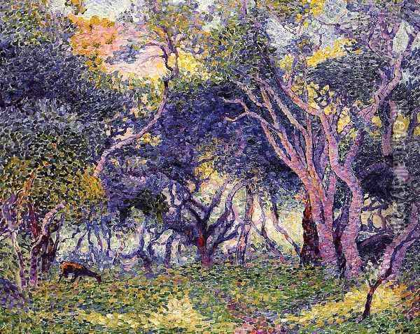 In the Woods Oil Painting - Henri Edmond Cross