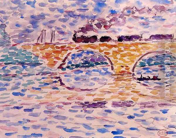 The Viaduct Oil Painting - Henri Edmond Cross