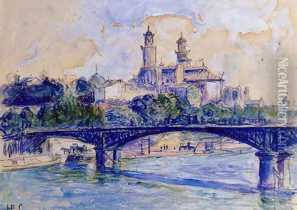 The Seine by the Trocadero Oil Painting - Henri Edmond Cross