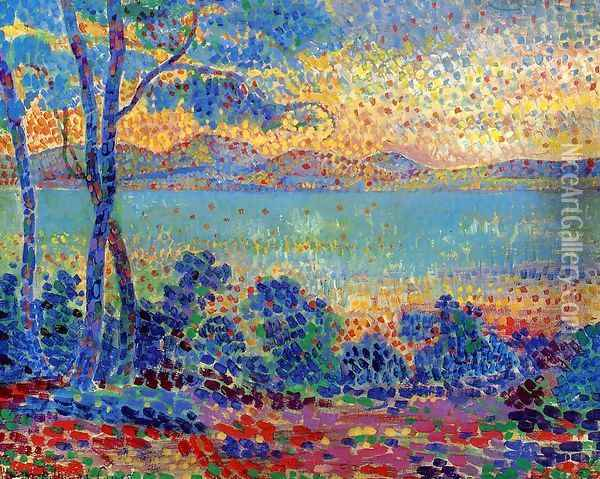 Provence Landscape I Oil Painting - Henri Edmond Cross