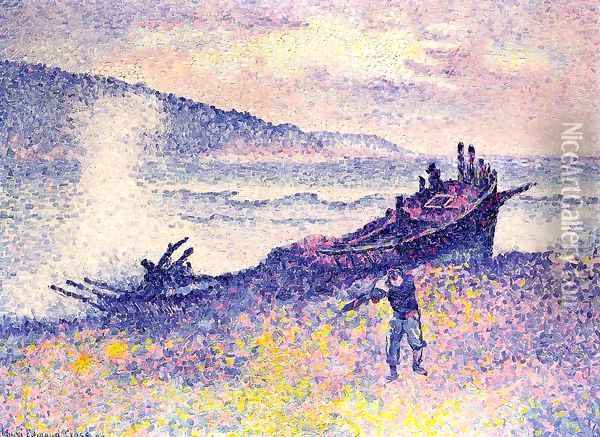 The Wreck Oil Painting - Henri Edmond Cross