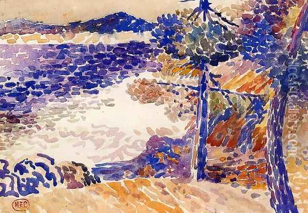 Pines by the Sea I Oil Painting - Henri Edmond Cross