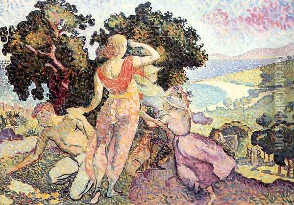 Study for 'Excuirsion' Oil Painting - Henri Edmond Cross