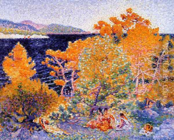 Siesta by the Water Oil Painting - Henri Edmond Cross