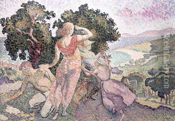 The Excursionists, 1894 Oil Painting - Henri Edmond Cross
