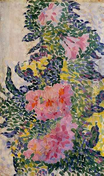 Flowers Oil Painting - Henri Edmond Cross