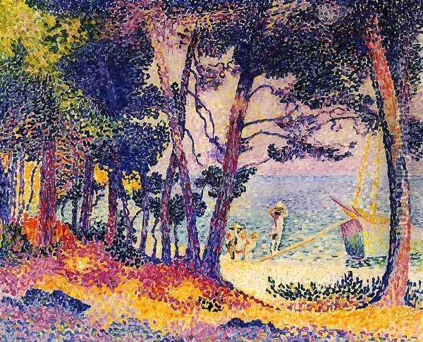 A Pine Wood, Provence 1906 Oil Painting - Henri Edmond Cross