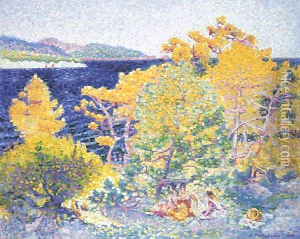 La sieste au bord de la mer Oil Painting - Henri Edmond Cross