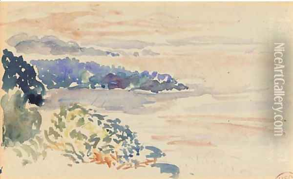 Rivage au crepuscule, Cavalaire Oil Painting - Henri Edmond Cross