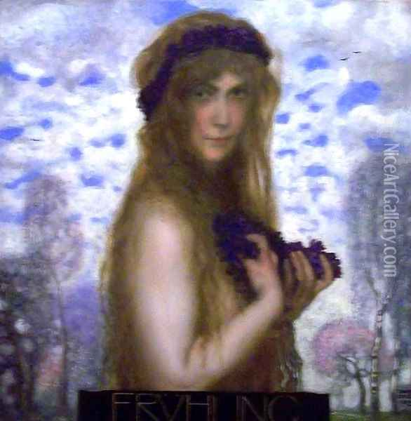 Spring 2 Oil Painting - Franz von Stuck