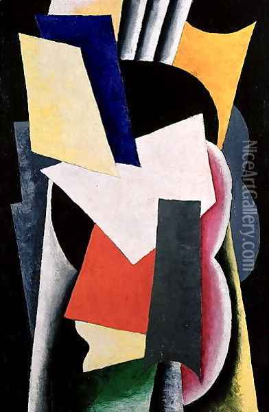 Untitled, 1916 Oil Painting - Lyubov Popova
