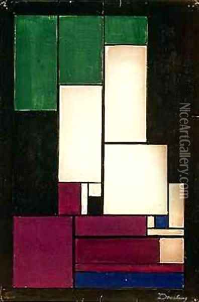 Composition Oil Painting - Theo van Doesburg