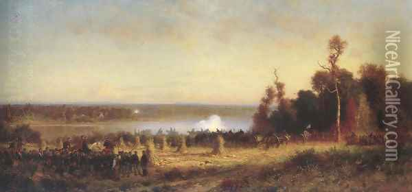 Cannonading On The Potomac October 1861 1868 70 Oil Painting - Alfred Wordsworth Thompson
