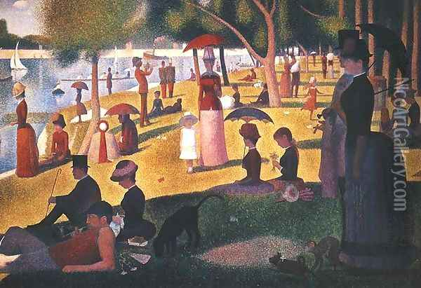 Sunday on La Grande Jatte Oil Painting - Georges Seurat