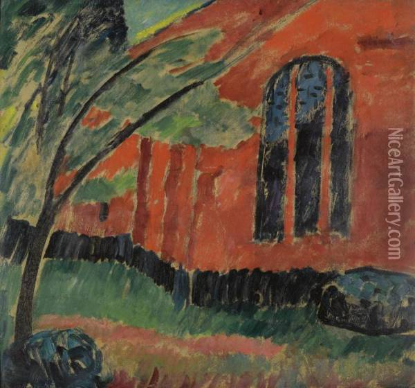 Kirche Im Prerow (church In Prerow) Oil Painting - Alexei Jawlensky