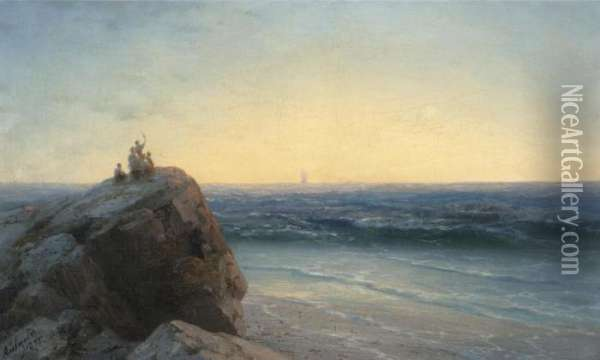 The Farewell Oil Painting - Ivan Konstantinovich Aivazovsky