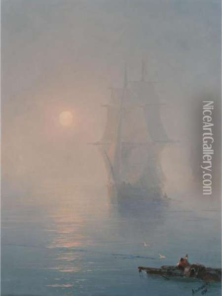 The Rescue Oil Painting - Ivan Konstantinovich Aivazovsky
