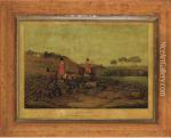 Hare Coursing: Going Out Oil Painting - Henry Thomas Alken