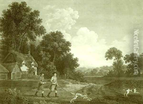 Two Gentlemen Going a Shooting, Plate 2 Oil Painting - George Stubbs