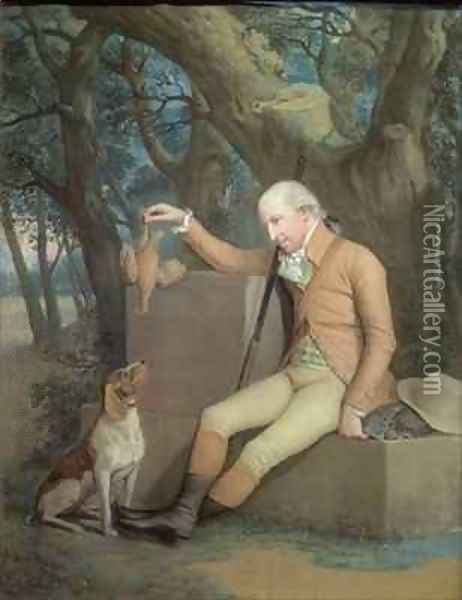 Portrait of Sir Horatio Mann 1744-1814 with his Hound Oil Painting - Hugh Douglas Hamilton