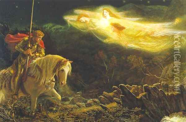 Sir Galahad 1865-70 Oil Painting - Arthur Hughes