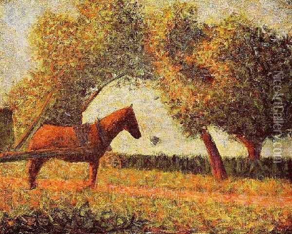 Horse Oil Painting - Georges Seurat
