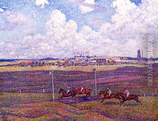 The Race Track at Boulogne-sur-Mer Oil Painting - Theo van Rysselberghe