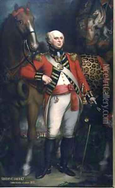 Portrait of Sir John Eamer, Lord Mayor of London Oil Painting - Mather Brown