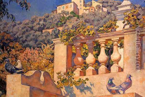 The Balustrade Oil Painting - Theo van Rysselberghe