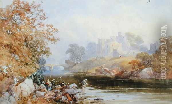 Brougham Castle, 1859 Oil Painting - James Burrell-Smith