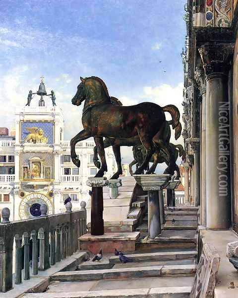 The Bronze Horses of San Marco Oil Painting - Charles Caryl Coleman