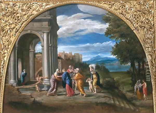 Landscape with the Visitation Oil Painting - Francesco Albani