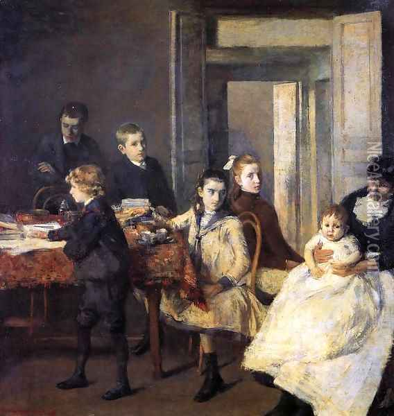 The Children of Francois van Rysselberghe Oil Painting - Theo van Rysselberghe