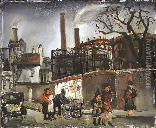Street Scene in Paris, 1926 Oil Painting - Christopher Wood