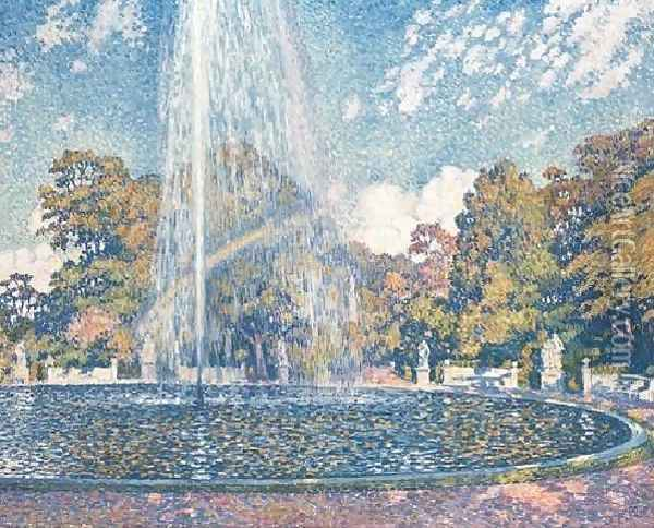 The Fountain Oil Painting - Theo van Rysselberghe