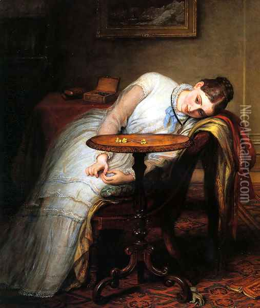 Hope Deferred, And Hopes And Fears That Kindle Hope Oil Painting - Charles West Cope