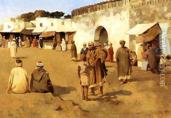 Moroccan Market I Oil Painting - Theo van Rysselberghe