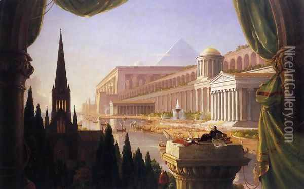 The Architect's Dream 1840 Oil Painting - Thomas Cole