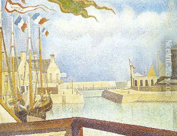 Port-en-Bessin, Sunday 1888 Oil Painting - Georges Seurat