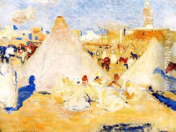 Encampment near a Moroccan Village Oil Painting - Theo van Rysselberghe